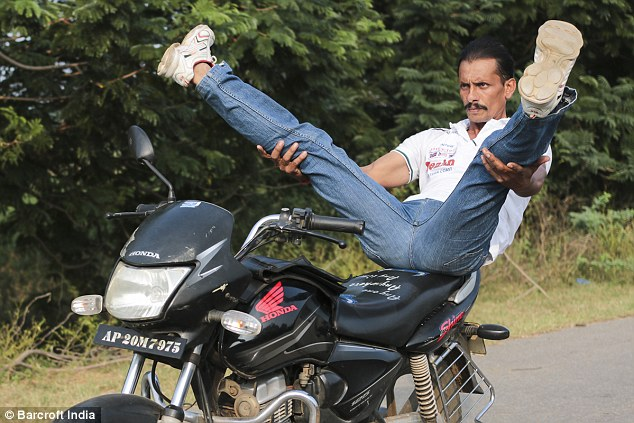 Indian Man Does Yoga While Riding Motorcycles Most Amazingest